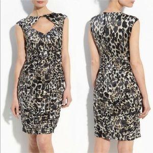 Nanette Lepore Fiery Angel cutout leopard dress